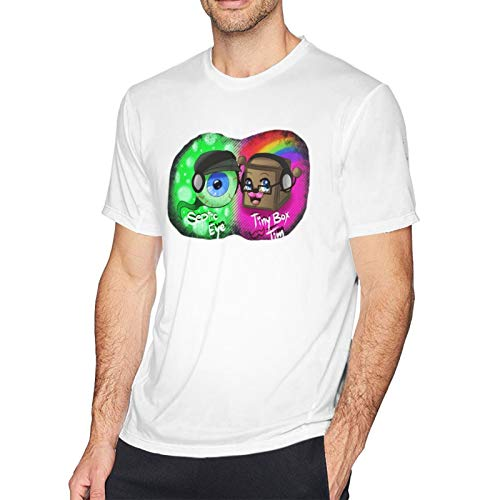 Jacksepticeye Eyeball Herren T-Shirt - DIY Casual Kurzarm Bedruckte T-Shirts für Herren T-Shirts Tops