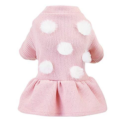 Poseca Abrigo de Invierno para Cachorros Vestido de Princesa para Perros Faldas con tutú para Perros Abrigo para Perros pequeños suéter para Perros pequeños y medianos Vestido cálido para niñas