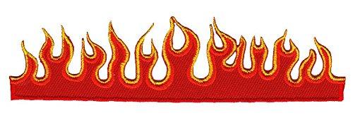Flammen Feuer Aufnäher Bügelbild Iron on Patches Applikation