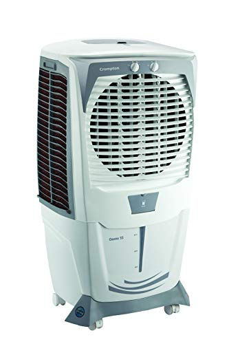 Crompton Ozone Desert Cooler - 55 Litres, Grey & White