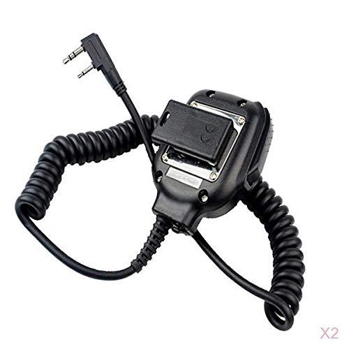 Almencla Microfono Palmare Con Microfono Da 2 Unità Mic KMC-45 Per Kenwood TK-340D, TK-348, TK-350, TK-353, TK-360 Ecc.