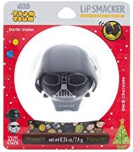 Special Holiday Limited Edition Disney Tsum Tsum Star Wars Lip Smacker in a Snow Globe - Darth Vader - Darth Chocolate Flavor Lip Balm - Perfect Stocking Stuffer for Star Wars Fans - Limited Time Only