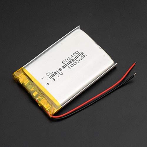 TTCPUYSA Batería De Iones De Litio De PolíMero Li Po De 3.7v 1000mah 503450, Recargable para Altavoz Bluetooth GPS TacóGrafo Dvr 5034501000mAh1pc