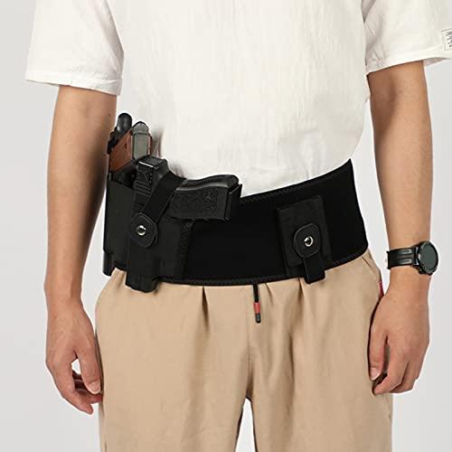 HLONGG Funda de Banda de Vientre Mejorada para Hombres y Mujeres Transpirable La Cintura de Neopreno Oculta Que Lleva la Funda se Adapta a la mayoría de Las Pistolas de tamaño,39inch Left