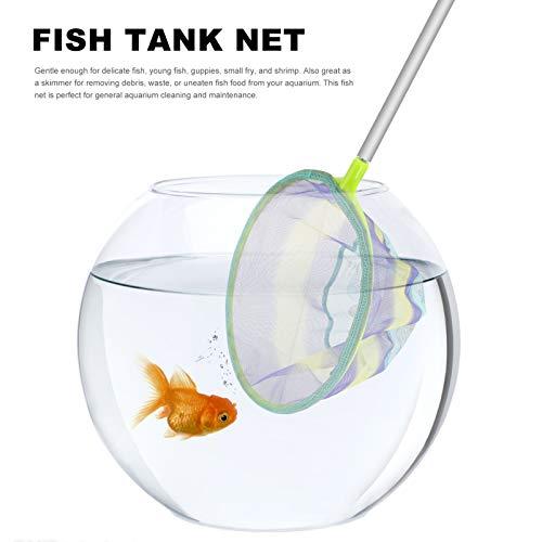 BESPORTBLE Fishing Net Fish Landing Net Rainbow Color fish Shrimp Net Fishing Tackle Accessories 25cm