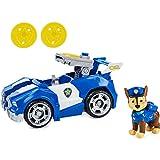 Paw Patrol 6060434 Chase's Deluxe Movie Transforming Car con Figura de acción Coleccionable, Juguete...