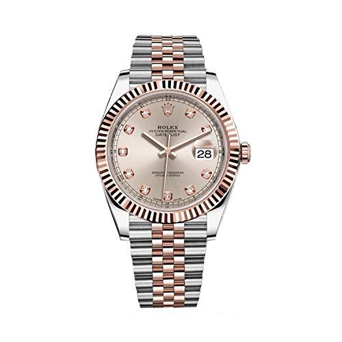 Rolex Datejust 41 acero 18K oro rosa Sundust Diamond Dial Mens reloj 126331