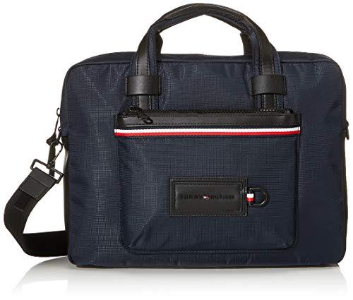 Tommy Hilfiger Herren Modern Nylon Conv Computer Bag Schultertasche, Mehrfarbig (Sky Captain), 10x30x40 centimeters