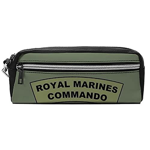 Bolsas de cosméticos portátiles Estuche para lápices Magic School Maquillaje Bolsa Royal Marines Commando Flash PU Cuero Neceser Bolsa Hangbag Pen Organizador con cremallera