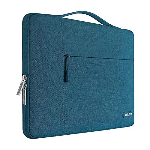 MOSISO Laptop Sleeve Compatible with MacBook Air 13 inch 2018-2021 A2337 M1 A2179 A1932, MacBook Pro A2338 M1 A2289 A2251 A2159 A1989 A1706 A1708,Polyester Multifunctional Briefcase Bag, Deep Teal