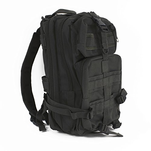 Ever Ready First Aid Tactical Assault Pack - First Aid Rucksack - 18' Military MOLLE Backpack (Black)
