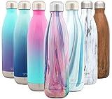 Simple Modern Wave 750ml Termo Botella de Agua Acero Inoxidable, Botella termica sin BPA Mantiene el Temperatura Aislada al Vacío Doble Pared para Deporte café o Viaje Diseño: Marea Opal