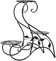 花棚、3層の屋内バルコニー植物のための金属植木鉢ホルダー