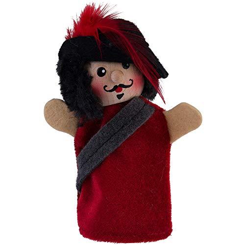 Kersa 40651 Fingerpuppe Musketier rot für Puppentheater Holzkopf