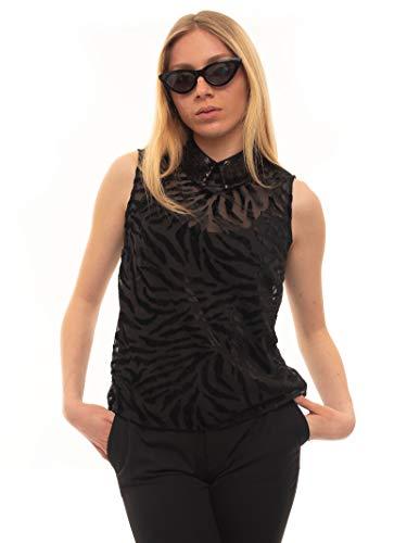 Guess SL BAHA Top Chaleco de Moda, Negro, S para Mujer