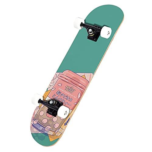 32 X 8 Pulgadas Skateboards Complete Standard Skateboards 7 Layer Deck Maple Double Kick Concave Skate Tableros para Niñas Boys Principiante