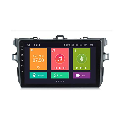 HP CAMP Car Stereo GPS Navegación Carplay DPS Integrado Android 10.0 Reproductor de para Toyota Corolla | 2.5D Pantalla LCD Táctil | USB | WLAN | Bluetooth/Reverse Camera(Gift)