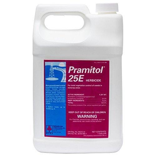 Pramitol 25e Bare Ground Herbicide 1 Gallon Non-selective Herbicide Prometon 25% NOT FOR SALE TO: CA; DC; AK; HI