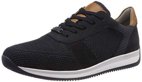 ARA Herren Lisboa 1136001 Sneaker, Blau (Blau-Grau, Blau/Cognac 13), 43 EU
