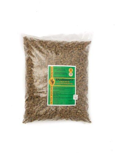 Vollmers Trockenfleischwürfel 10kg, Ergänzungskost für Hunde mit Fleischanteil von 96%
