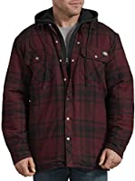 Dickies Men's Relaxed Fit Hooded Quilted Shirt Jacket