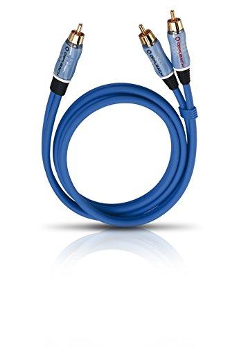 Oehlbach BOOOM 1000 - Subwoofer Y-Cinch-Kabel (2 x Cinch auf 1 x Cinch) - Druckvolle Basswiedergabe & effektive Schirmung - 10m - blau