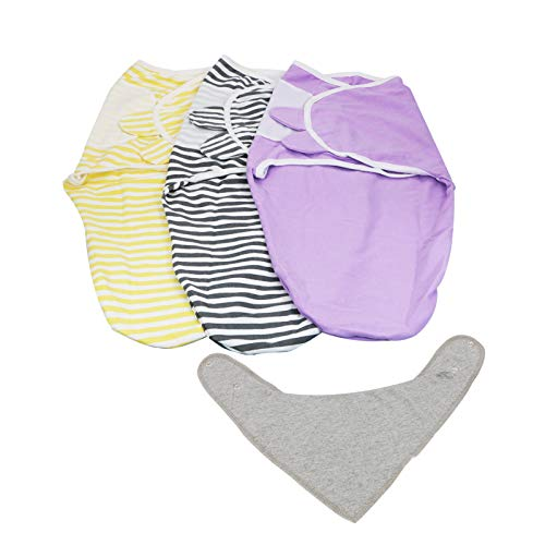 Belle's Baby Swaddle Blanket - Swaddling Sack for Better Sleep - Soft and Comfy Blanket Wrap for Newborns - Adjustable Infant Baby Sack for 0-3 Months - 100% Breathable Stretchy Cotton Made - Set of 3
