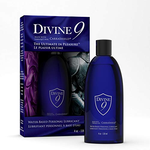 Divine 9 Personal Lubricant made with CarraShield