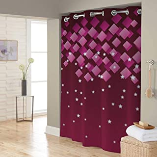 Right Canvas Maroon 180cm x 200cm Shower Curtain - RG138NPIC00089