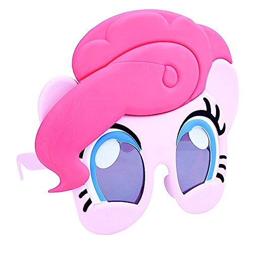 Costume Sunglasses My Little Pony Pinky Pie Sun-Staches Party Favors UV400, one-size (80603)