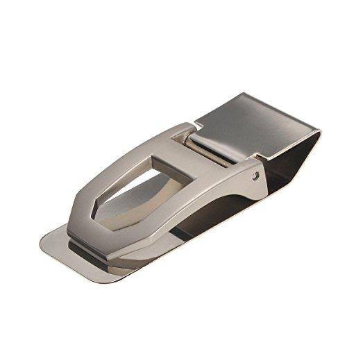 HOUSWEETY Stainless Steel V Shape Slim Money Clip Credit Card ID Cash Holder