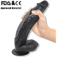 30 cm Consolador Enorme - Hireomi Real de Hombres Dong Pene con Ventosa y Testículos (Negro)