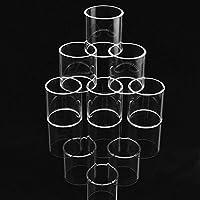 3PCS交換用クリアパイレックスガラス管用ノーチラス2S 2.6ml交換用クリアパイレックスガラス管
