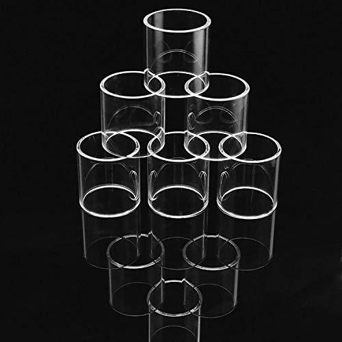 Qingtian-ceg 5 Teile/Paket Ersatz Klar Pyrexglasrohr Für Melo 2 Tank Ersatz Klar Pyrexglasrohr,Frei von Tabak und Nikotin