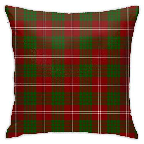 jhgfd7523 Throw Pillow Cover Clan Crawford Tartan Decorative Pillow Case Home Decor Square 18x18 Inches Pillowcase