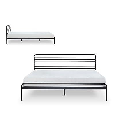 Zinus Sonnet Metal Platform Bed/Mattress Foundation/No Boxspring Needed/Wood Slat Support
