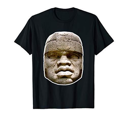 Olmec Statue Shirt - Hidden History Clothing - Good Colors !