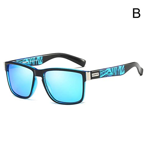 DUBERY Polarisierte Sonnenbrille für Herren, Outdoor-Sport, Reiten, Angeln, B