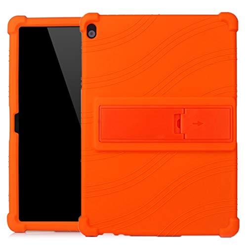 Liluyao Más Casos para Tableta Caja Protectora de la Tableta PC de Silicona con Soporte Invisible (Color : Naranja)