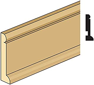 Handley House Dollhouse Baseboard Molding with Quarter Round Base Trim Attached