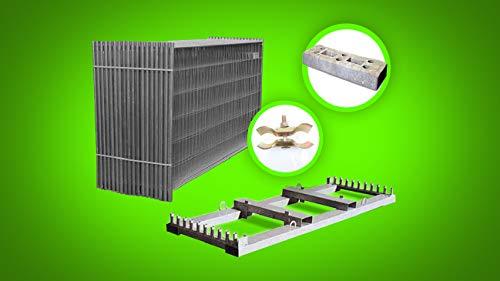 25x Bauzaun Set Für 87,5 Meter - 25er Set Mobilzäune Mit Betonsteinen, Verbindungsschellen