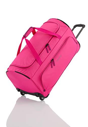 Travelite Basics Trolley Reisetasche FRESH auf Rollen 70cm, in sechs Farben Reise-Henkeltasche, 71 cm, 89 Liter, Pink