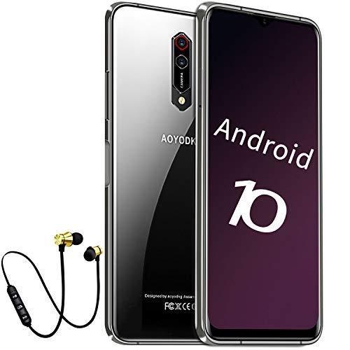 4G Moviles Libres Baratos de 6,5 Pulgadas 6GB RAM 64GB ROM Android 10.0 Certificado por Google GMS Octa Core 2.5Ghz, Teléfono Móvil 8MP+16MP Cámara Smartphone 4500mAh Moviles Baratos y Buenos (Negro)