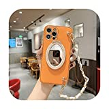 Caliente lujo cuero perla diosa maquillaje espejo teléfono caso para iphone 12 11 Pro Max X XS XR Max 7 8 Plus moda chica muñeca cubierta -3-para iphone 12
