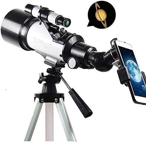 Telescopen for Astronomie, Portable 70mm refractortelescoop for beginners en kinderen met verstelbare statief, 2 Oculairs en Rugzak