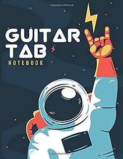 Space Guitar Tab Notebook   Guitar Manuscript   6 String Guitar Tabulature   My Guitar Tabulature Book   Ideal For Beginne...