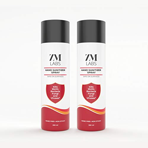ZM Labs Hand Sanitizer Spray 250 ML Pack of 2 (250 ML each)