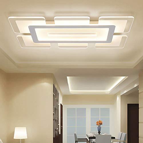 """LITFAD Rectangular LED Flush Light Minimalist Acrylic Ultrathin Ceiling Lamp, Modern Ceiling Pandent Light for Dinning Room Bedroom Living Room - 23.5"""" Length, White Light"""