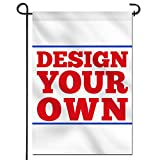 Anley Double Sided Custom Garden Flag 18 x 12.5 in - Print Your Own Logo/Design/Words - Weather Resistant & Double Stitched - Customized Garden Flags Banners (Flag ONLY)