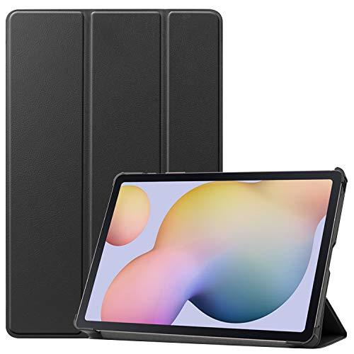 ROVLAK Hülle für Samsung Galaxy Tab S7 Tablet Hülle Magnetische PU Lederhülle Super Thin Lightweight Stand Stoßfeste Schutzhülle für Samsung Galaxy Tab S7,Schwarz